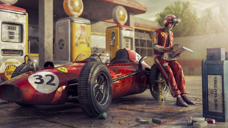 "Пазл гонщик - разгадать онлайн из раздела ""Автомобили ..."